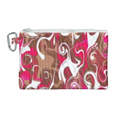 Fancy Magenta Marble Canvas Cosmetic Bag (large) by tarastyle