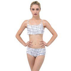 Abstract Lines Layered Top Bikini Set by tarastyle