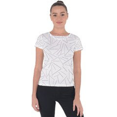 Abstract Lines Short Sleeve Sports Top  by tarastyle