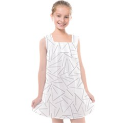 Abstract Lines Kids  Cross Back Dress by tarastyle