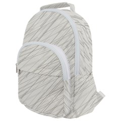 Abstract Lines Rounded Multi Pocket Backpack by tarastyle