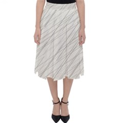 Abstract Lines Classic Midi Skirt by tarastyle
