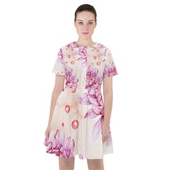 Watercolor Autumn Garden Sailor Dress