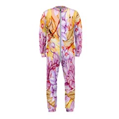 Watercolor Autumn Garden Onepiece Jumpsuit (kids)