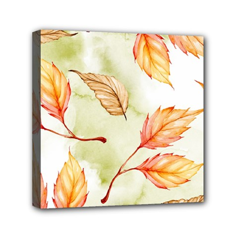 Watercolor Autumn Garden Mini Canvas 6  X 6  (stretched) by tarastyle