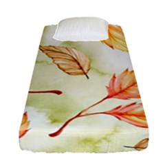 Watercolor Autumn Garden Fitted Sheet (single Size) by tarastyle