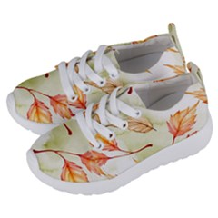 Watercolor Autumn Garden Kids  Lightweight Sports Shoes by tarastyle