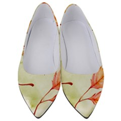 Watercolor Autumn Garden Women s Low Heels by tarastyle