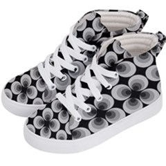 Zappwaits Retro Black Kids  Hi Top Skate Sneakers by zappwaits
