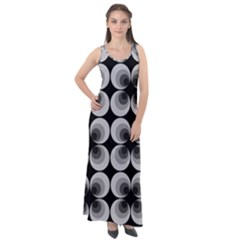 Zappwaits Retro Black Sleeveless Velour Maxi Dress
