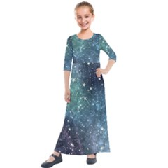 Above All Things Kids  Quarter Sleeve Maxi Dress by WensdaiAddamns