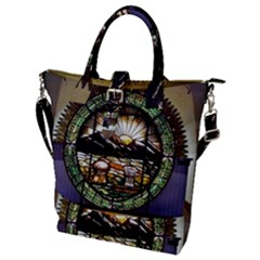 Ohio Seal Buckle Top Tote Bag by Riverwoman