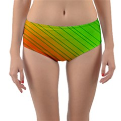Orange Green Gradient Hunter Reversible Mid Waist Bikini Bottoms