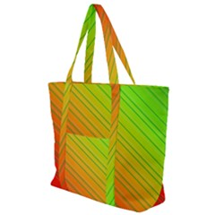 Orange Green Gradient Hunter Zip Up Canvas Bag