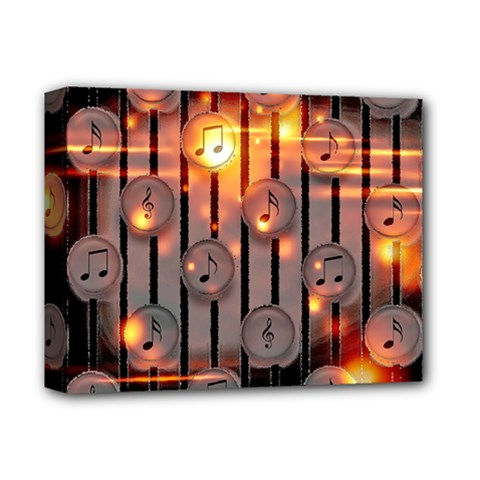 Music Notes Sound Musical Audio Deluxe Canvas 14  X 11  (stretched)
