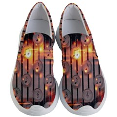 Music Notes Sound Musical Audio Women s Lightweight Slip Ons