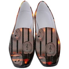Music Notes Sound Musical Audio Women s Classic Loafer Heels