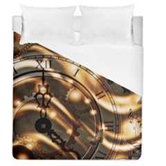 Time Clock Star Hour Day Night Duvet Cover (queen Size)