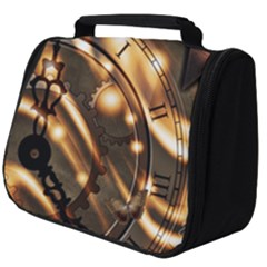 Time Clock Star Hour Day Night Full Print Travel Pouch (big)
