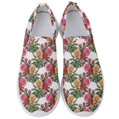 Rose Flowers Paint Men s Slip On Sneakers by goljakoff
