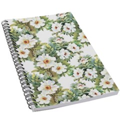 White Flowers Pattern 5 5  X 8 5  Notebook by goljakoff
