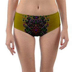 Ornate Dots And Decorative Colors Reversible Mid-waist Bikini Bottoms by pepitasart