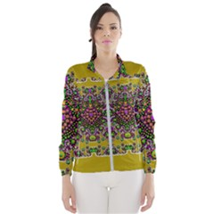 Ornate Dots And Decorative Colors Women s Windbreaker by pepitasart