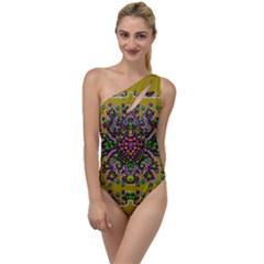 Ornate Dots And Decorative Colors To One Side Swimsuit by pepitasart