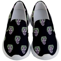 Creepy Zombies Motif Pattern Illustration Kids  Lightweight Slip Ons