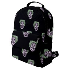 Creepy Zombies Motif Pattern Illustration Flap Pocket Backpack (small)