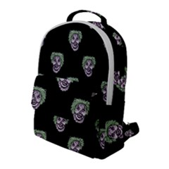 Creepy Zombies Motif Pattern Illustration Flap Pocket Backpack (large)