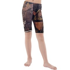 Grand Army Of The Republic Drum Kids  Mid Length Swim Shorts by Riverwoman