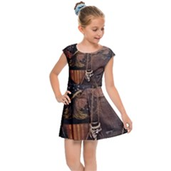 Grand Army Of The Republic Drum Kids  Cap Sleeve Dress