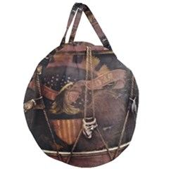 Grand Army Of The Republic Drum Giant Round Zipper Tote
