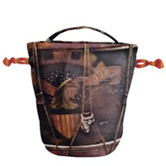 Grand Army Of The Republic Drum Drawstring Bucket Bag by Riverwoman
