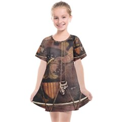 Grand Army Of The Republic Drum Kids  Smock Dress by Riverwoman