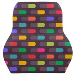 Background Colorful Geometric Car Seat Back Cushion