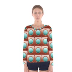 Abstract Circle Square Women s Long Sleeve Tee by Desi8477