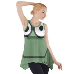 Cartoon Cute Frankenstein Halloween Side Drop Tank Tunic