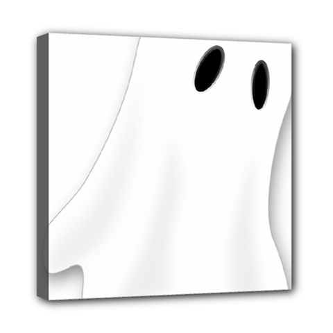 Ghost Boo Halloween Spooky Haunted Mini Canvas 8  X 8  (stretched)