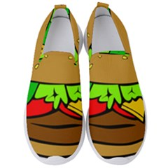 Hamburger Cheeseburger Fast Food Men s Slip On Sneakers