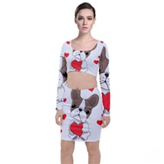 Animation Dog Cute Animate Comic Top And Skirt Sets