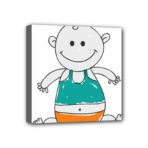 Baby Cute Child Birth Happy Mini Canvas 4  X 4  (stretched)