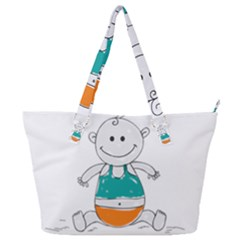 Baby Cute Child Birth Happy Full Print Shoulder Bag