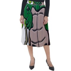 Amphibian Animal Cartoon Reptile Classic Velour Midi Skirt