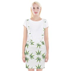 Cannabis Curative Cut Out Drug Braces Suspender Skirt