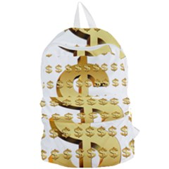 Dollar Money Gold Finance Sign Foldable Lightweight Backpack by Mariart