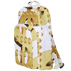 Dollar Money Gold Finance Sign Double Compartment Backpack