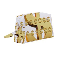 Dollar Money Gold Finance Sign Wristlet Pouch Bag (medium)