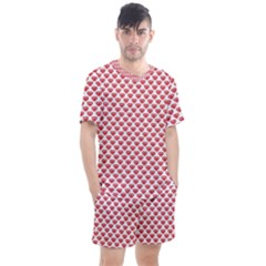 Brilliant Patern Abstract Men s Mesh Tee And Shorts Set